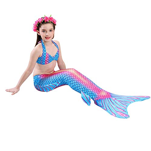 Kokowaii Fancy Womens Girls Mermaid Tail Dress Swimwear no Monofin