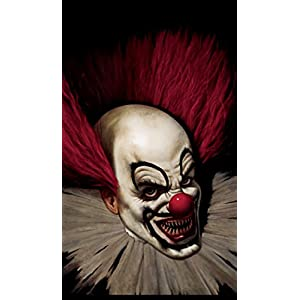 WOWindow Posters Slammy the Scary Clown Halloween Window Decoration 34.5″x60″ Backlit Poster
