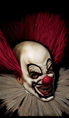 WOWindow Posters Slammy the Scary Clown Halloween Window Decoration 34.5