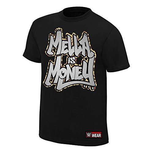 WWE Carmella Mella is Money T-Shirt Black Small by WWE Authentic Wear