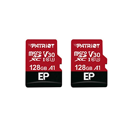 Patriot 128GB A1 / V30 Micro SD Card for Android Phones and Tablets, 4K Video Recording - 2 Pack Retail Units