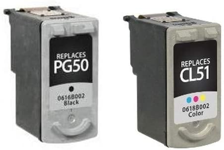 PG-50//CL-51 BC-90//BC-91PVP SuppliesMAX Compatible Replacement for Canon PIXMA MP-150//160//450//MX-300//310//318 Inkjet Combo Pack Black//Color