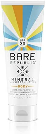 Bare Republic Mineral Body SPF 30 Sunscreen Lotion (5 ounce)