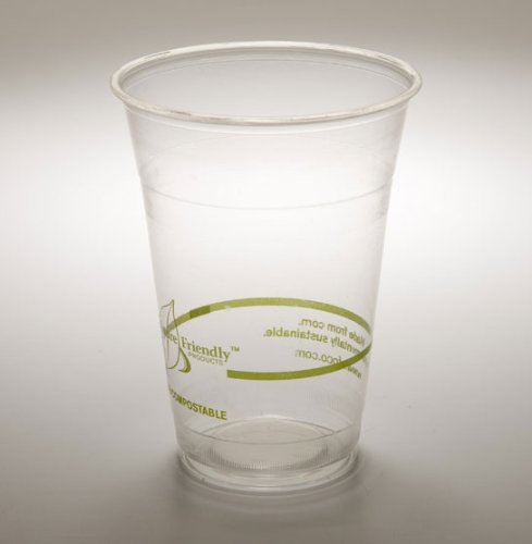 16 Oz. PLA Clear Corn Plastic Biodegradable Cold Cup (Pack of 50) (Cold Biodegradable Cups)