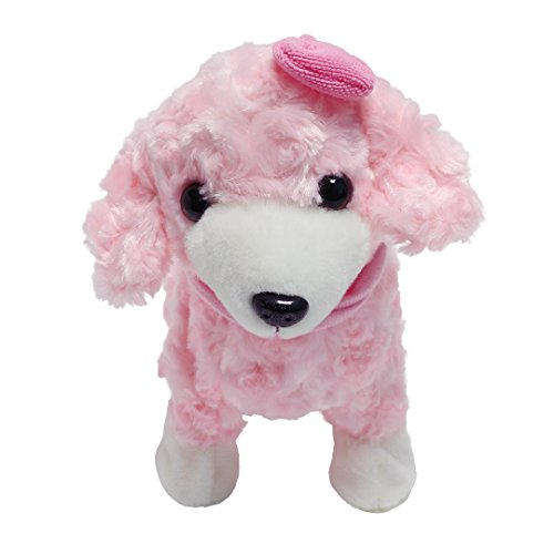 Multifit Kids Music Plush Dog Christmas Gift Electronic Walking Swagging Teddy Dog(Pink)