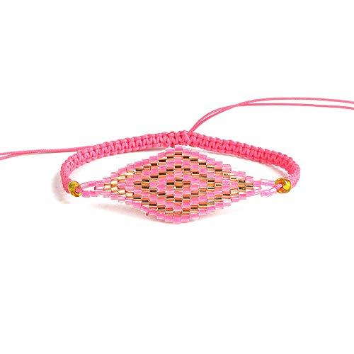 BALIBALI Handmade 100% Authentic Miyuki Seed Beads Bracelet Woven Stars Statement Tassel Bangles Boho Jewelry for Women