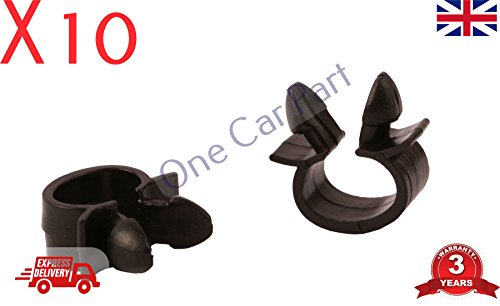 10x CABLE PIPE CLAMP WIRES WIRING LOOM HARNESS CLIP HOLDER: