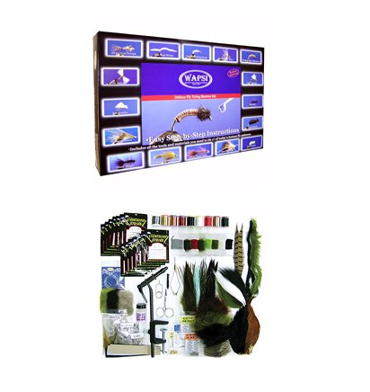 Deluxe Fly Tying Starter Kit, Outdoor Stuffs