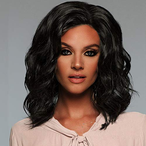FORUU Wigs, 2019 Valentine's Day Surprise Best Gift For Girlfriend Lover Wife Party Under 5 Free delivery Short Wavy Bobo Hair Ordinary hair net Wig Glueless Front Wigs Black Women -