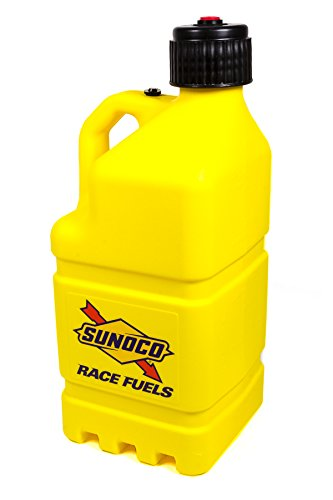 Sunoco Race Fuels 5 Gallon Racing Utility Jug with Deluxe Filler Hose Kit - Yellow - Made in the USA R7100YLHOSE