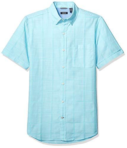 IZOD Men's Saltwater Short Sleeve Solid T-Shirt with Pocket, Blue Radiance, 2X-Large