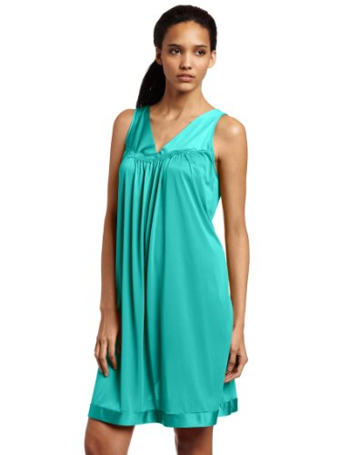 (Exquisite Form Women's Plus Size Coloratura Sleepwear Short Gown 30807, Green Frenzy, 1X)