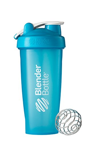 (BlenderBottle Classic Loop Top Shaker Bottle, 28-Ounce, Aqua/Aqua)