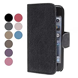Elegant Design PU Leather Case with Stand and Card Slot for iPhone 5/5S (Assorted Colors) --- COLOR:Red