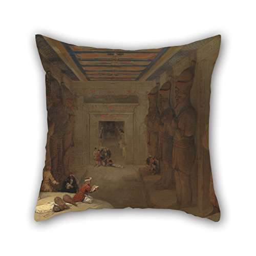 [Alphadecor Oil Painting David Roberts - The Hypostyle Hall Of The Great Temple At Abu Simbel, Egypt Throw Pillow Case 16 X 16 Inches / 40 By 40 Cm Gift Or Decor For Sofa,club,christmas,deck] (Kathy Terry Costume)