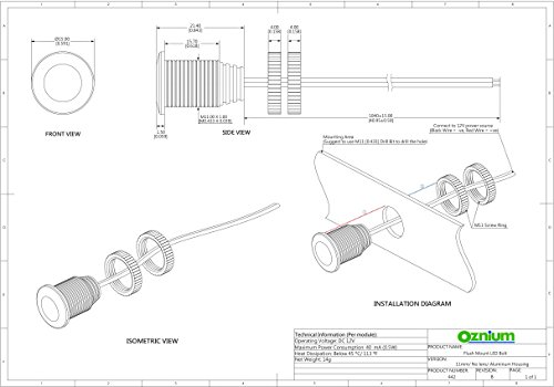 brightest light bolt - flush mount 12v led light for bumper