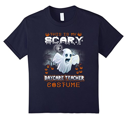 Kids This Is My Scary Daycare Teacher Costume T Shirt 12 Navy (Daycare Teacher Halloween Costumes)