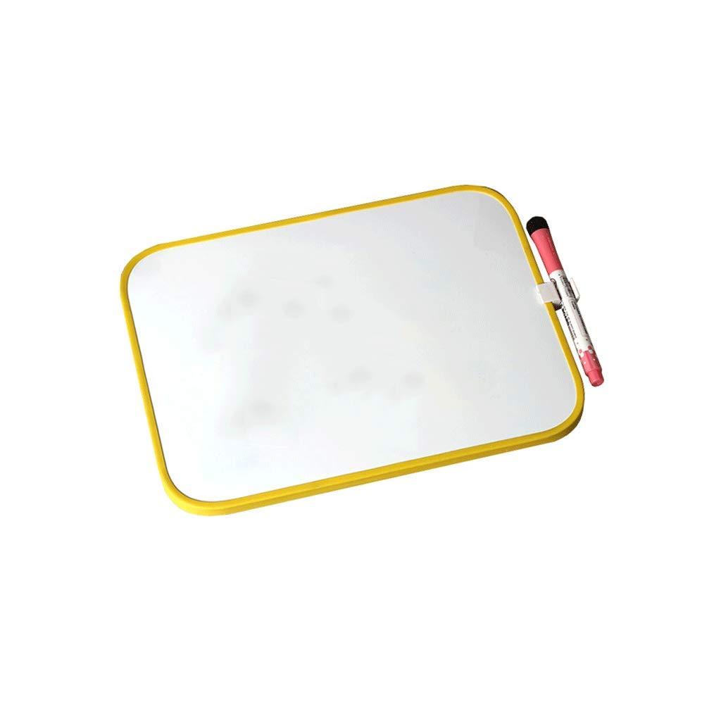 Lavagna magnetica Lavagna a due lati Tavolo da disegno sospeso (colore   Giallo, dimensioni   L.)