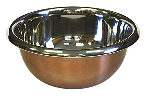 - ZUCCOR ZBMCL Premium Stainless Steel Mixing Bowl with Copper Plated Exterior, 6.3 qt./6000ml Capacity, Multicolor