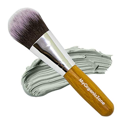 Face Mask Brush - Smooth, Soft and Even Applicator, to be used with Facial Mud Masks, Peel Offs or Oils (4 inches long)