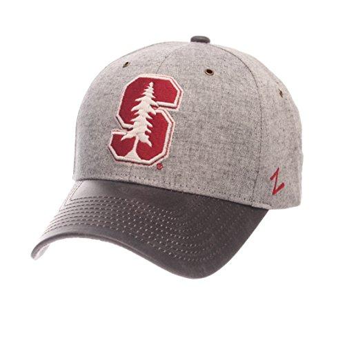 Zephyr NCAA Stanford Cardinal Men's The Supreme Cap, Adjustable, Gray