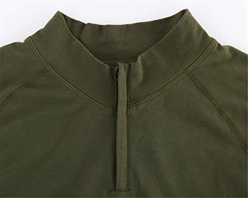 QingCheng Chemise de Combat Homme Camouflage Militaire Tactique Airsoft Tenue T-Shirt Slim Fit à Manches Longues Costume… 2