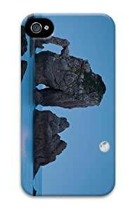 cover customized Beach Moon Night PC Case for iphone 4/4S