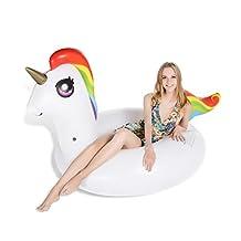 Jasonwell Unicorn Pool Party Float, Inflatable Raft, 4 Feet Wide Tube