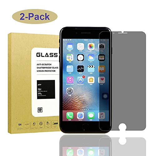 [2Pack] for iPhone 7 Plus/iPhone 8 Plus Privacy Anti-Spy Screen Protector,Onexie[Full Coverage][9H Hardness][Bubble Free][Case Friendly] Tempered Glass Screen Protector for iPhone 7Plus/iPhone 8Plus