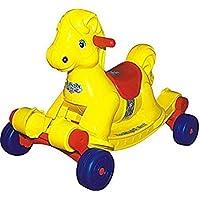 Panda Goyal's Hobby Horse 2-in-1 Rocker/Ride-on for Kids - Yellow