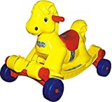 Goyal's Panda Hobby Horse 2-in-1 Rocker cum Ride-on for Kids - Yellow