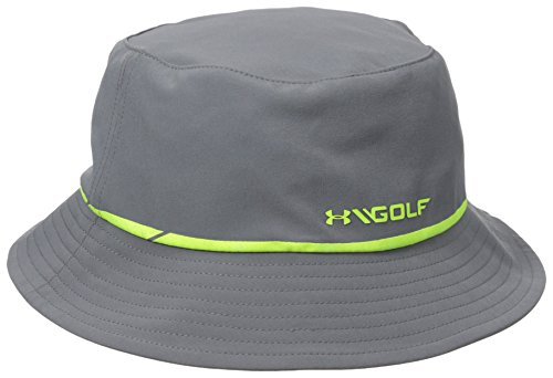 1b6457d0a3286 ireland amazon under armour mens golf bucket cap graphite steel high vis  yellow medium large sports