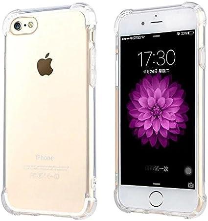 JOMARSA CELLPHONES Funda iPhone 6/6S Transparente [Refuerzos ...