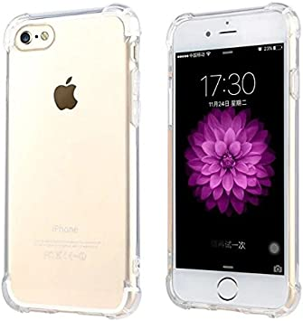 JOMARSA CELLPHONES Funda iPhone 6/6S Transparente [Refuerzos Laterales] [Liquid Crystal] [Silicona TPU Flexible] [Transparente] [Protección Grosor Fino]: Amazon.es: Electrónica