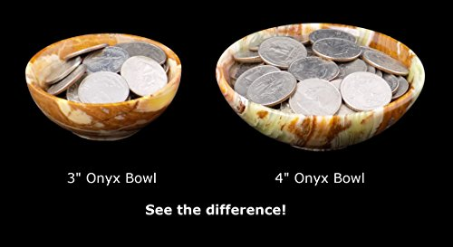 """Onyx Bowl 3"""" - beautiful gemstone water or food bowl for small pets"""