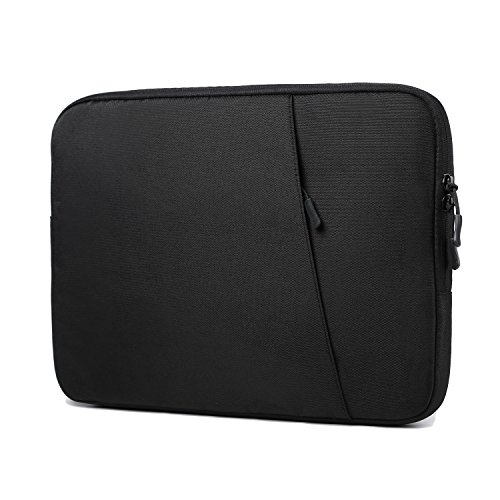 HYZUO 13-13.3 Inch Protective Laptop Sleeve Bag Waterproof Shock Resistant Cases for 13-13.3inch Macbook Air/MacBook Pro/Surface Laptop/Book, Oxford Cloth Carrying Briefcase Black