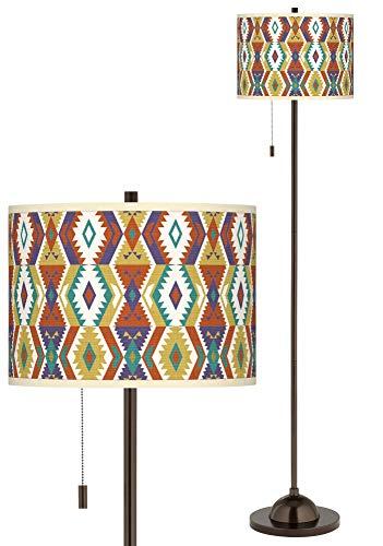 Southwest Giclee Glow Bronze Club Floor Lamp - Giclee Glow ()