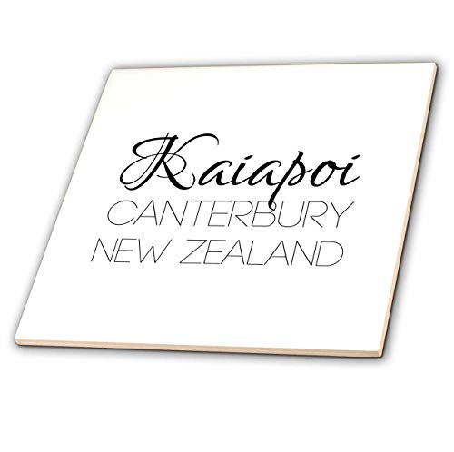 3dRose Alexis Design - New Zealand Cities - Kaiapoi, Canterbury, New Zealand. Patriot, Region, Home Town Design - 6 Inch Glass Tile (ct_308528_6) ()