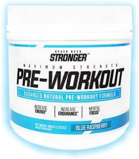 Never Been Stronger Maximum Strength Advanced Natural Pre-Workout Blue Raspberry