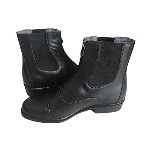 Sharplace Coppia cavallerizza sportivo accessorio Nero Zip equitazione Scarpe Stivali da Abbigliamento UnTPWYU