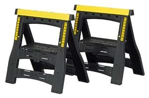 Stanley 60622 Folding Adjustable Sawhorse (2-Pack)
