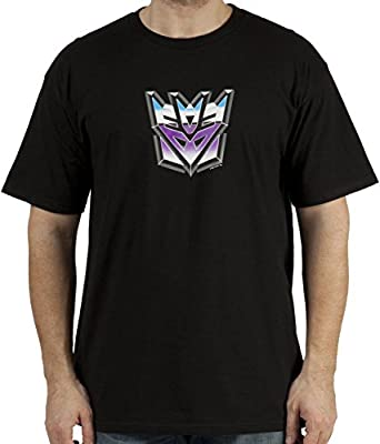 80sTees Men's Decepticon Transformers T-Shirt Black