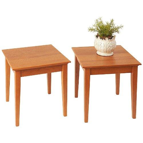 Golden Oak Desk (Manchester Wood Stacking Shaker Side Table Set of 2 - Golden Oak)