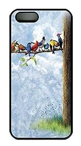 Bird Sanctuary Owls HAC1014054 Custom PC Hard For HTC One M8 Phone Case Cover Black