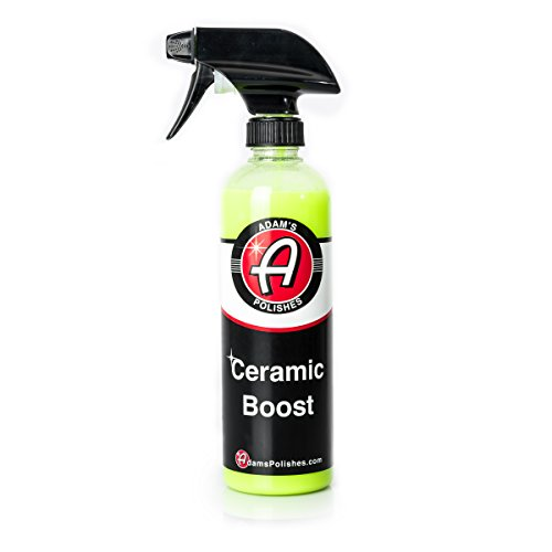 Adam's Ceramic Boost 16oz - Ceramic Infused Quick Detailer - Silica Protection Creates a Slick Surface That Beads and Repels Water - Use On Exterior Surfaces Paint, Chrome, and Trim