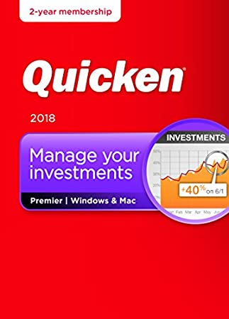 Quicken Premier 2018  – Personal Finance & Budgeting Software [Amazon Exclusive 27-month membership]