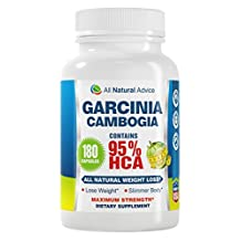 All Natural Advice Garcinia Cambogia Extract with Pure 95% HCA 180 Capsules with 1400 mg of Garcinia per two capsule serving. The most effective Weight Loss Supplement