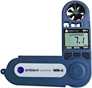 Ambient Weather WM-4 Handheld Weather Station w/ Windspeed Direction Temperature Humidity Compass Dew Point Co