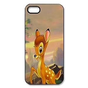 Customize Black White Cartoon Disney Bambi Back Diy For Iphone 6Plus Case Cover JN -2202