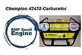 BMotorParts Carburetor for Champion 42432 Generator 80cc 1800/1400 Watts New Carb